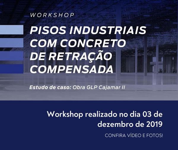 Workshop Pisos Industriais com concreto de retração compensada